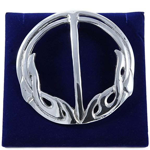Celtic Knotwork Large Plaid Pewter Brooch (3)