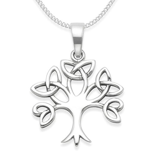Sterling Silver Celtic Tree of Life Pendant with Silver chain