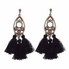 Colorful Tassle Geometric Gold  Water Drop Earring