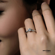 Silver plated zircon female finger rings