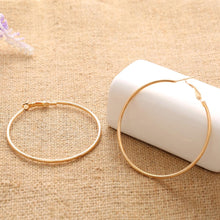 Hot Big Smooth Circle Statement Earrings