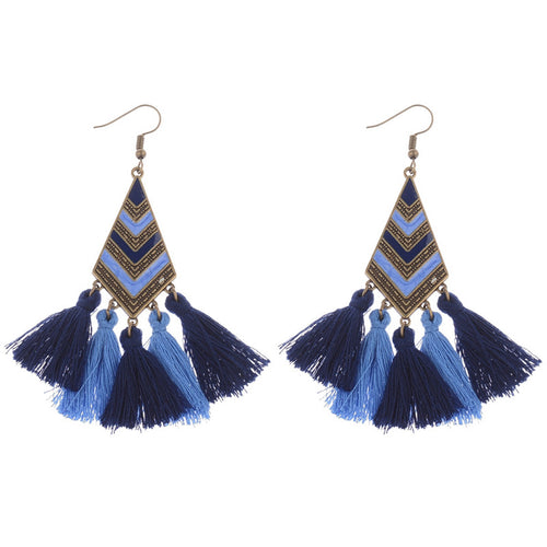 Tassle Alloy Hollow Drop Earring