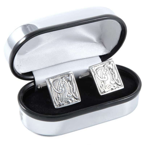 Polished Pewter Square Design Cufflinks - Complete with Quality Polished Gift Box