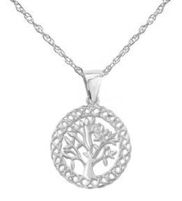 Celtic Tree Of Life Silver Pendant