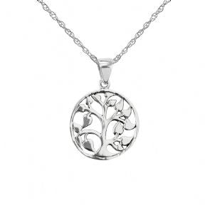 Celtic Tree Of Life Silver Round Pendant
