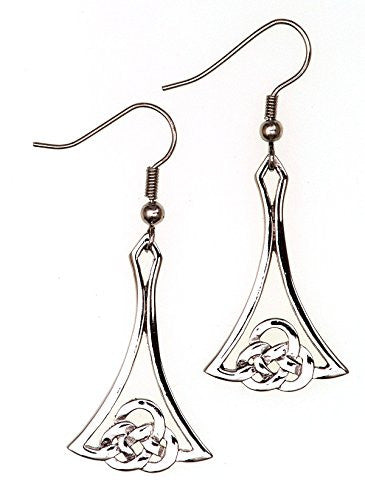 Polished Pewter Scottish Kells  Design Ear Rings