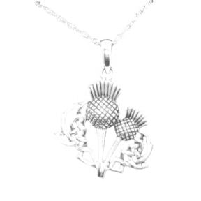 Scottish Thistle Silver Pendant 'AGNES