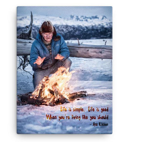 'Life is Simple, Life is Good. .' Canvas Print