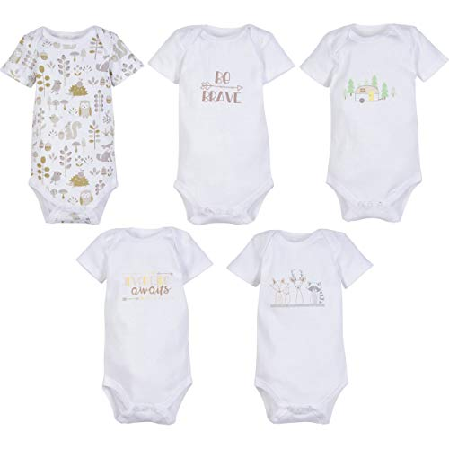 MiracleWear Cute Kid's Bodysuit Romper Outfits (5 Pcs) Boy & Girl Daywear Clothing Sets (0-3 Months)
