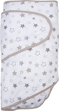 Miracle Blanket Swaddle Wrap for Newborn Infant Baby, Grey Stars