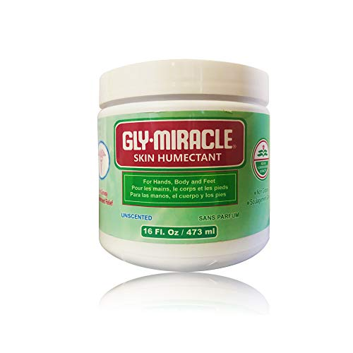 GLY MIRACLE Skin Humectant Body Skin Cream 16-ounce Jar Deep, Nourishing UNSCENTED
