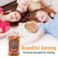 Original Caramel Peanut Bliss Butter Toffee and Peanuts Gourmet Flavored Popped Corn and Nuts 26 oz