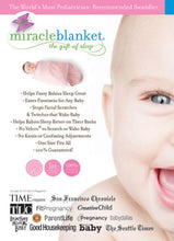 Miracle Blanket Swaddle Wrap for Newborn Infant Baby, Pink and Grey Stripes