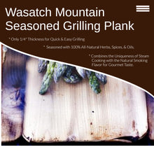 Wasatch Mountain Cedar Grilling Planks 4 Pack Seasoned (Margarita Dill, Garlic Lemon Pepper)