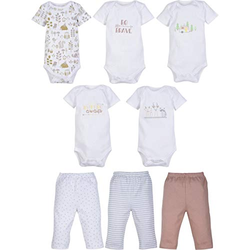 MiracleWear Cute Kid's Outfits Bodysuit & Pants 8 Pcs Baby Clothing Sets Boy, 3-6 Months