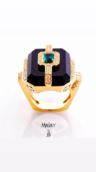 18KT Gold Emerald Ring Model S33 SOLD!!