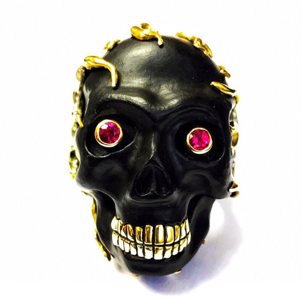 Fire Mexican Skull Ring