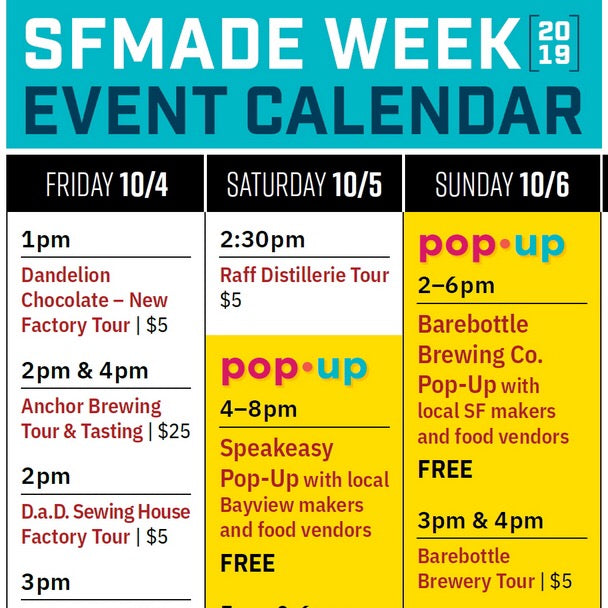 This Sunday! SFMade Week