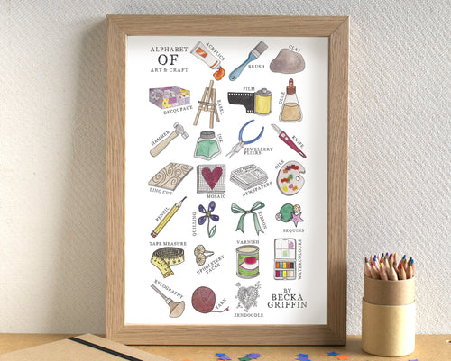 Art and Craft Alphabet Art Print