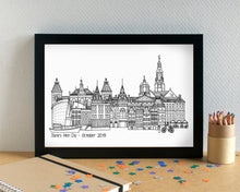Amsterdam Skyline Landmarks Art Print - can be personalised - unframed