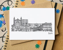Bath Skyline Landmarks Greetings Card