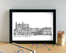 Bath Skyline Landmarks Art Print - can be personalised