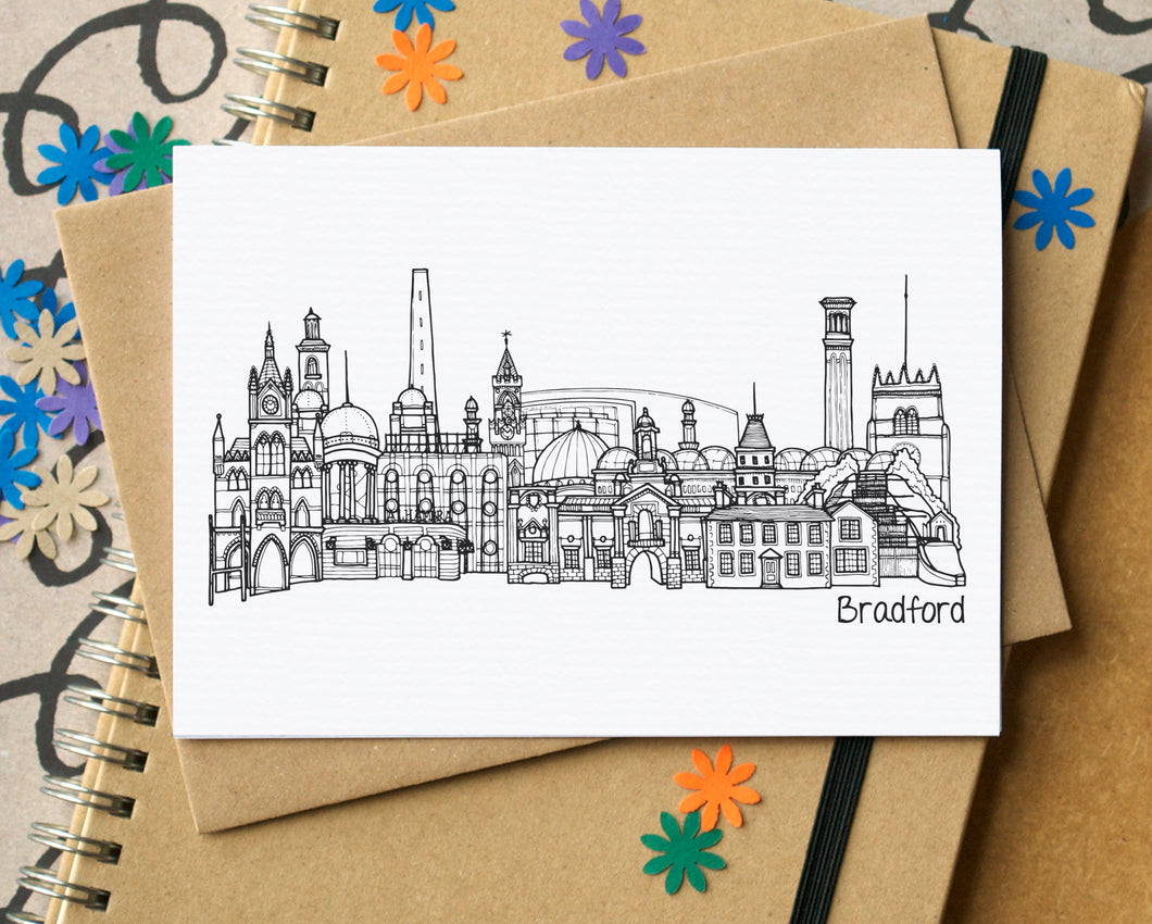 Bradford Skyline Landmarks Greetings Card