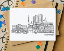Cheltenham Skyline Landmarks Greetings Card