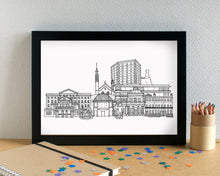 Cheltenham Skyline Landmarks Art Print - can be personalised