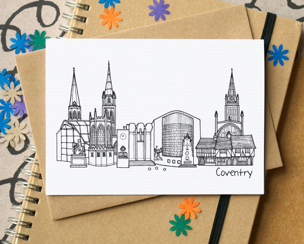 Coventry Skyline Landmarks Greetings Card