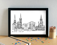 Coventry Skyline Landmarks Art Print - can be personalised