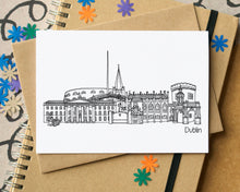 Dublin Skyline Landmarks Greetings Card