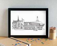 Dundee Skyline Landmarks Art Print - can be personalised