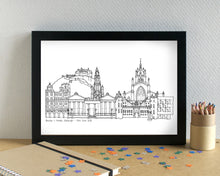 Edinburgh Skyline Landmarks Art Print - can be personalised