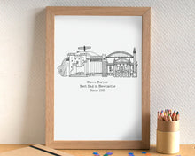 Father's Day Personalised Skyline Print