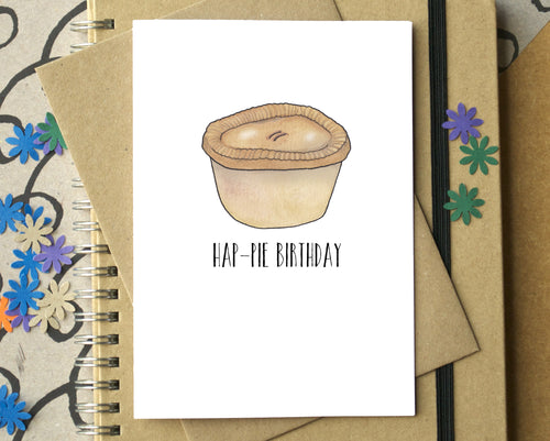 Funny Hap-Pie Birthday Card