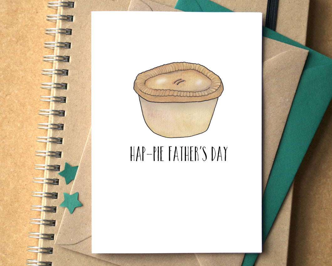 Funny Hap-Pie Father's Day Card