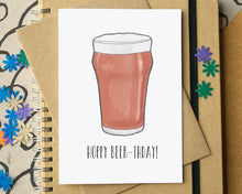 """Hoppy Beer-thday"" Funny Birthday Card"