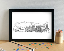 Lake District Skyline Landmarks Art Print - can be personalised