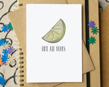 """Lime All Yours"" Funny Valentine's Card"