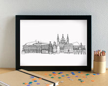 Madrid Skyline Landmarks Art Print - can be personalised
