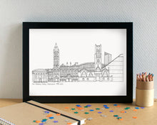 Manchester Skyline Landmarks Art Print - can be personalised