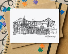 Middlesbrough Skyline Landmarks Greetings Card