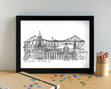 Middlesbrough Skyline Landmarks Art Print - can be personalised