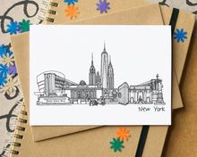 New York Skyline Landmarks Greetings Card