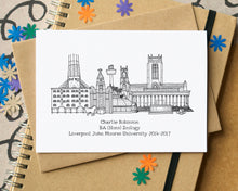 Graduation Personalised Skyline Greetings card
