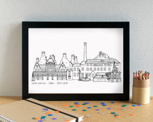 Stoke-on-Trent Skyline Landmarks Art Print - can be personalised