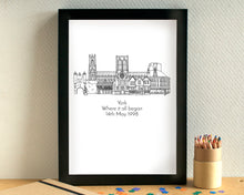 "Personalised ""Where It All Began"" Anniversary Skyline Print"