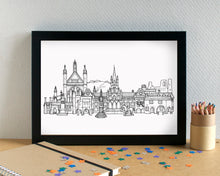 Winchester Skyline Landmarks Art Print - can be personalised