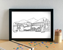 Yorkshire Dales Skyline Landmarks Art Print - can be personalised